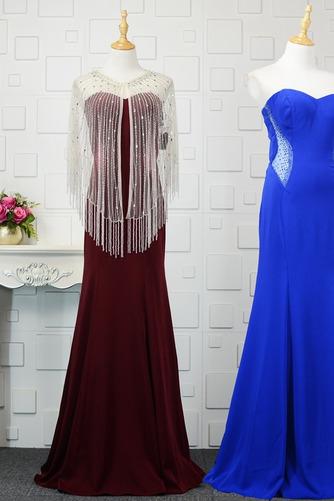 Φυσικό Ρομαντικό Θήκη Χάντρες Μακρύ εξώπλατο Βραδινά φορέματα - Σελίδα 1