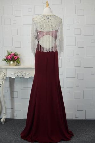 Φυσικό Ρομαντικό Θήκη Χάντρες Μακρύ εξώπλατο Βραδινά φορέματα - Σελίδα 6
