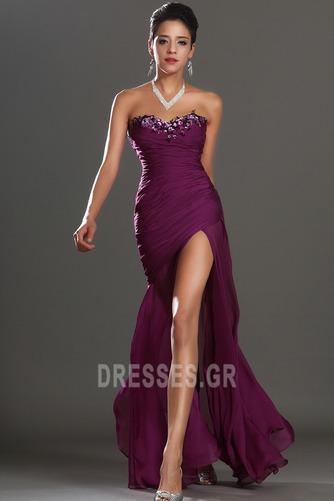 Αμάνικο Λαμπερό Χαμηλή Μέση Μπροστινό Σκίσιμο Μπάλα φορέματα - Σελίδα 1