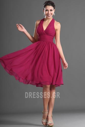 Καλοκαίρι απλός Σιφόν Φυσικό Αμάνικο Μίνι Παράνυμφος φορέματα - Σελίδα 2