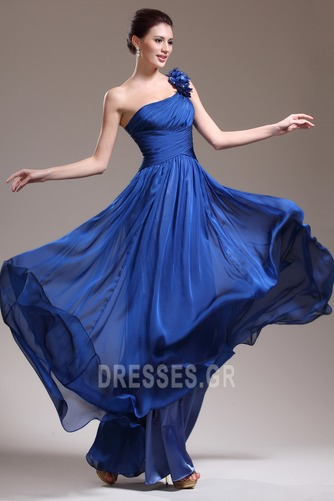 Ένας Ώμος Κομψό Ντραπέ Χαμηλή Μέση Αμάνικο Βραδινά φορέματα - Σελίδα 2