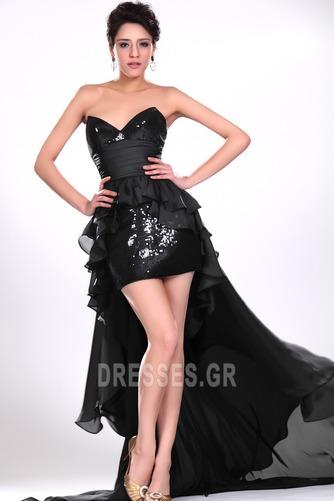 Σιφόν Μαύρο φύλλο Φυσικό Φερμουάρ επάνω σύγχρονος Κοκτέιλ φορέματα - Σελίδα 2