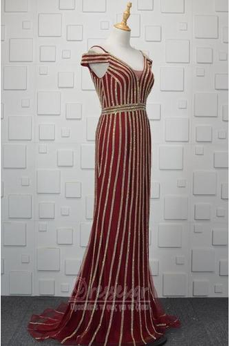 Πούλιες Θήκη εξώπλατο Τούλι Έναστρο Ανάποδο Τρίγωνο Βραδινά φορέματα - Σελίδα 2