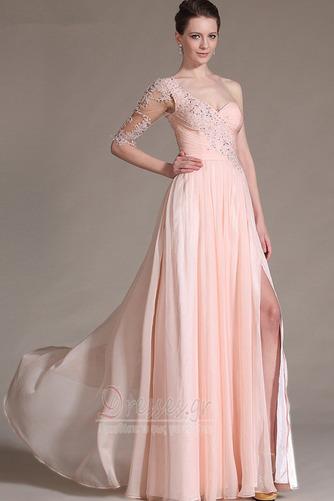 Ένας Ώμος Γραμμή Α Χάντρες Μικροκαμωμένη Βραδινά φορέματα - Σελίδα 1