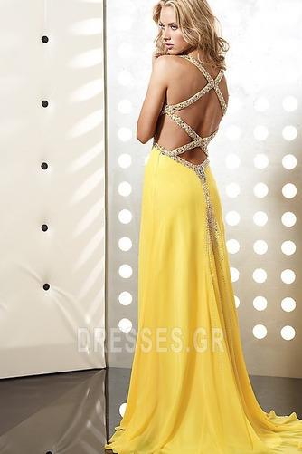 Φυσικό Οι πτυχωμένες μπούστο Κίτρινο Κρυστάλλινη Μπάλα φορέματα - Σελίδα 2