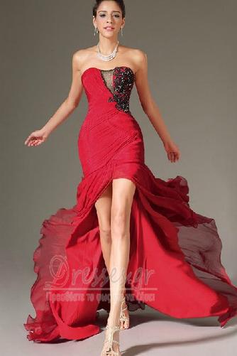 Σιφόν Αμάνικο Λαμπερό Χάντρες Μήκος πατωμάτων Βραδινά φορέματα - Σελίδα 11