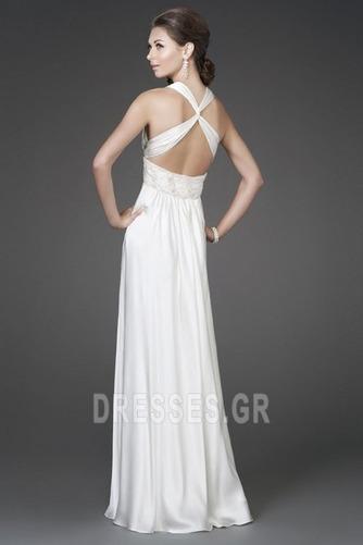 Αμάνικο Φθινόπωρο Λαιμόκοψη V Φυσικό Σιφόν Βραδινά φορέματα - Σελίδα 2