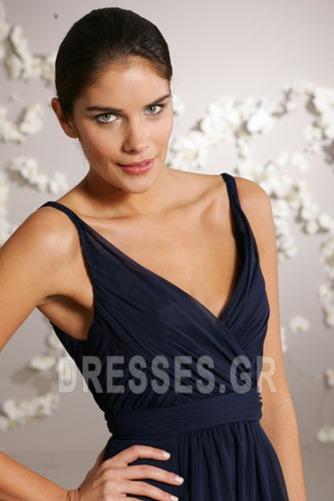 απλός Φερμουάρ επάνω Λαιμόκοψη V Μέχρι το Γόνατο Παράνυμφος φορέματα - Σελίδα 3