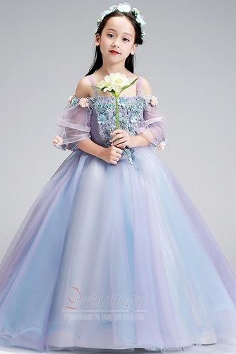 Τετράγωνο Τονισμένα ροζέτα Χαλαρά μανίκια Λουλούδι κορίτσι φορέματα - Σελίδα 4