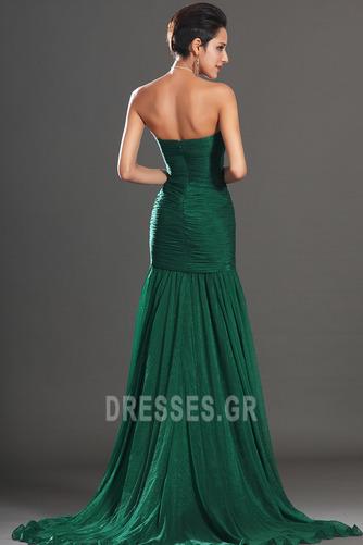 Σιφόν Αμάνικο Λαμπερό Χάντρες Μήκος πατωμάτων Βραδινά φορέματα - Σελίδα 6
