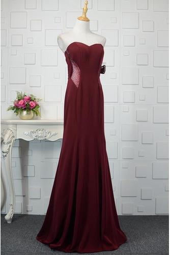 Φυσικό Ρομαντικό Θήκη Χάντρες Μακρύ εξώπλατο Βραδινά φορέματα - Σελίδα 7
