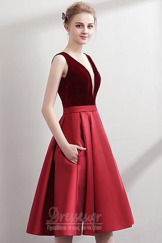 Φυσικό Βαθιά v-λαιμός Λαιμόκοψη V Χάνει Φθινόπωρο Μπάλα φορέματα - Σελίδα 3