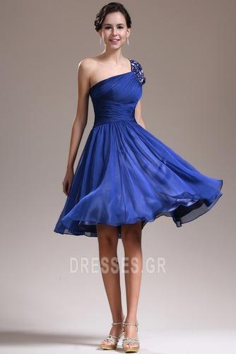 Φυσικό Τα μέσα πλάτη Γραμμή Α απλός Ένας Ώμος Παράνυμφος φορέματα - Σελίδα 1