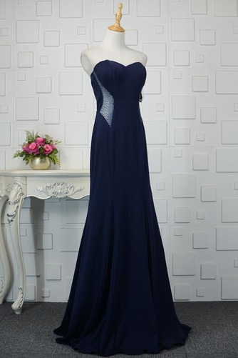 Φυσικό Ρομαντικό Θήκη Χάντρες Μακρύ εξώπλατο Βραδινά φορέματα - Σελίδα 9
