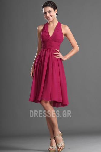 Καλοκαίρι απλός Σιφόν Φυσικό Αμάνικο Μίνι Παράνυμφος φορέματα - Σελίδα 5