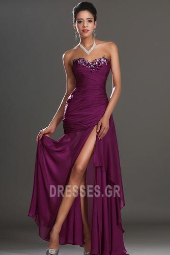 Αμάνικο Λαμπερό Χαμηλή Μέση Μπροστινό Σκίσιμο Μπάλα φορέματα - Σελίδα 5