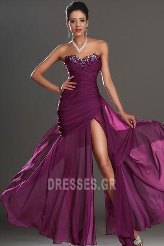 Αμάνικο Λαμπερό Χαμηλή Μέση Μπροστινό Σκίσιμο Μπάλα φορέματα - Σελίδα 3