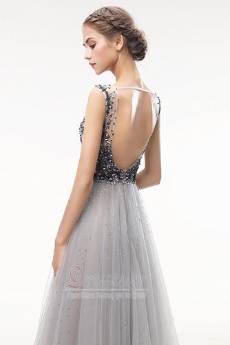 Καλοκαίρι Λαιμόκοψη V Αμάνικο Γραμμή Α Φυσικό Μπάλα φορέματα - Σελίδα 5