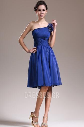 Φυσικό Τα μέσα πλάτη Γραμμή Α απλός Ένας Ώμος Παράνυμφος φορέματα - Σελίδα 3