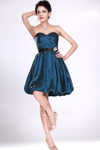Αμάνικο αγαπημένος Κοντό Καλοκαίρι σικ Φερμουάρ επάνω Παράνυμφος φορέματα - Σελίδα 2