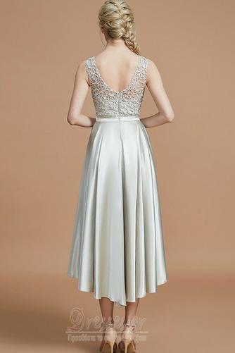 Φερμουάρ επάνω Φυσικό Μέχρι το Γόνατο Ασύμμετρη Παράνυμφος φορέματα - Σελίδα 2