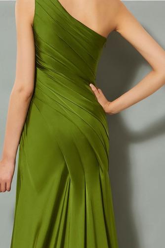 Πλισέ Τα μέσα πλάτη Αμάνικο Κομψό Φυσικό Βραδινά φορέματα - Σελίδα 5