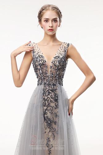 Καλοκαίρι Λαιμόκοψη V Αμάνικο Γραμμή Α Φυσικό Μπάλα φορέματα - Σελίδα 4