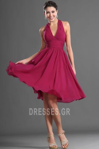 Καλοκαίρι απλός Σιφόν Φυσικό Αμάνικο Μίνι Παράνυμφος φορέματα - Σελίδα 3