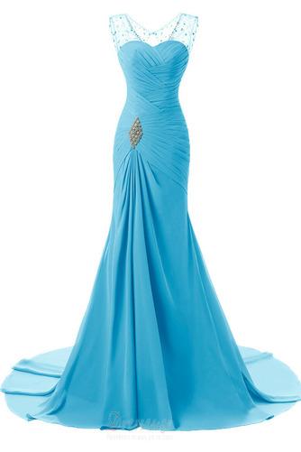 Κρυστάλλινη απλός Χάνει Μήκος πατωμάτων Φερμουάρ επάνω Βραδινά φορέματα - Σελίδα 7