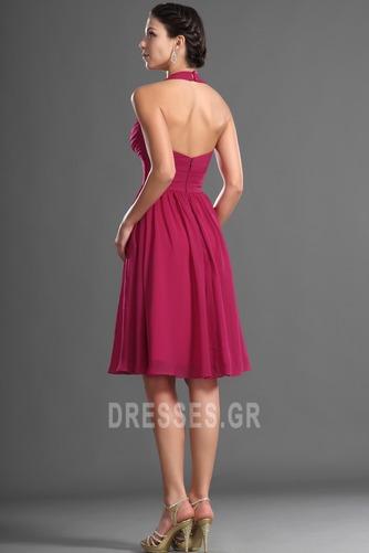Καλοκαίρι απλός Σιφόν Φυσικό Αμάνικο Μίνι Παράνυμφος φορέματα - Σελίδα 6