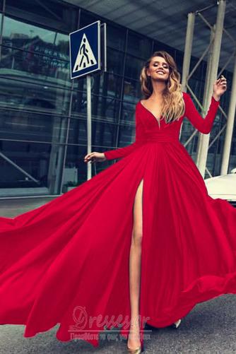 Μπροστινό Σκίσιμο Κοντομάνικο Βαθιά v-λαιμός Βραδινά φορέματα - Σελίδα 4