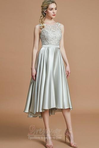 Φερμουάρ επάνω Φυσικό Μέχρι το Γόνατο Ασύμμετρη Παράνυμφος φορέματα - Σελίδα 5