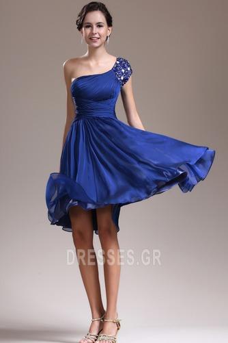 Φυσικό Τα μέσα πλάτη Γραμμή Α απλός Ένας Ώμος Παράνυμφος φορέματα - Σελίδα 2