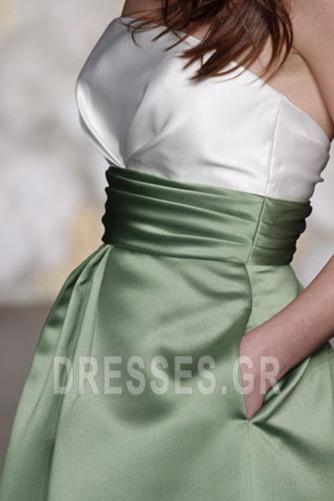 Φυσικό φασκόμηλο Αίθουσα Μέχρι το Γόνατο Παράνυμφος φορέματα - Σελίδα 3