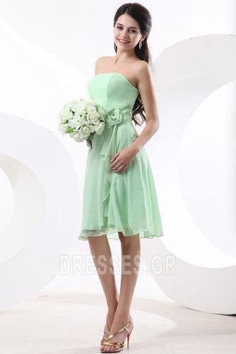 Τονισμένα ροζέτα Γραμμή Α Φυσικό Αμάνικο Παράνυμφος φορέματα - Σελίδα 4