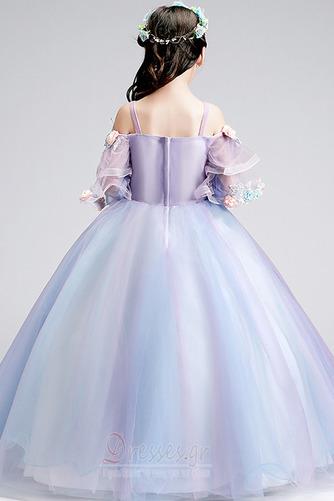 Τετράγωνο Τονισμένα ροζέτα Χαλαρά μανίκια Λουλούδι κορίτσι φορέματα - Σελίδα 2