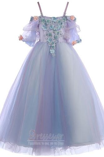 Τετράγωνο Τονισμένα ροζέτα Χαλαρά μανίκια Λουλούδι κορίτσι φορέματα - Σελίδα 6