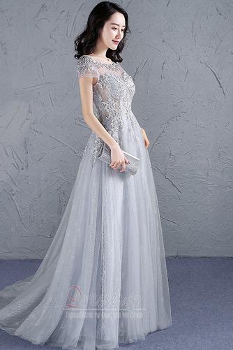 Φυσικό Προσαρμοσμένες μανίκια Δαντέλα-επάνω Μπάλα φορέματα - Σελίδα 3