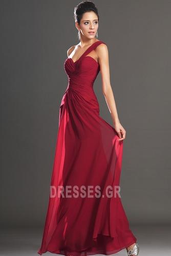 Φυσικό Φερμουάρ επάνω Ένας Ώμος Σιφόν Κομψό Βραδινά φορέματα - Σελίδα 2