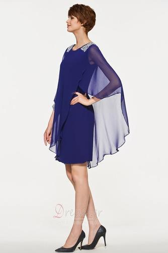 σικ Σιφόν Χαλαρά μανίκια Χάντρες Γραμμή Α Μητέρα φόρεμα - Σελίδα 3