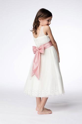 Τόξο Πριγκίπισσα Τονισμένα τόξο Λευκό Το μήκος τσάι Λουλούδι κορίτσι φορέματα - Σελίδα 2