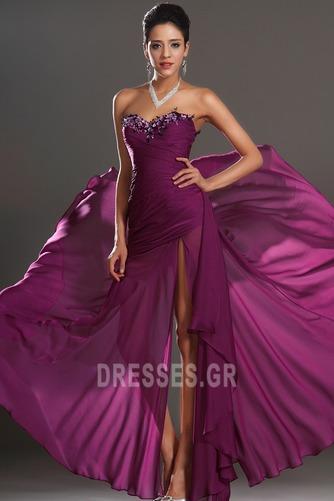 Αμάνικο Λαμπερό Χαμηλή Μέση Μπροστινό Σκίσιμο Μπάλα φορέματα - Σελίδα 2