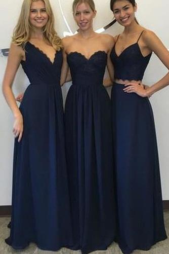 Κομψό Αμάνικο Οι πτυχωμένες μπούστο Φυσικό Παράνυμφος φορέματα - Σελίδα 1