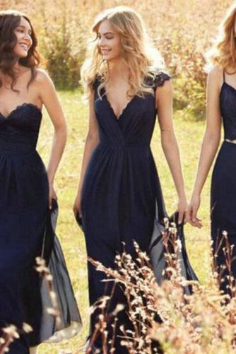 Κομψό Αμάνικο Οι πτυχωμένες μπούστο Φυσικό Παράνυμφος φορέματα - Σελίδα 2