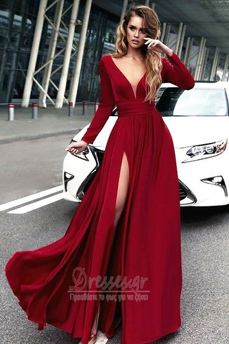 Μπροστινό Σκίσιμο Κοντομάνικο Βαθιά v-λαιμός Βραδινά φορέματα - Σελίδα 1