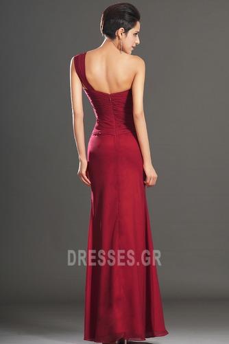 Φυσικό Φερμουάρ επάνω Ένας Ώμος Σιφόν Κομψό Βραδινά φορέματα - Σελίδα 5