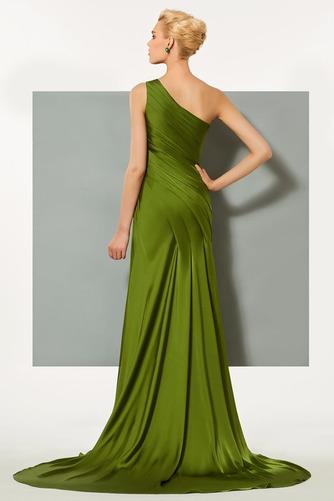 Πλισέ Τα μέσα πλάτη Αμάνικο Κομψό Φυσικό Βραδινά φορέματα - Σελίδα 3