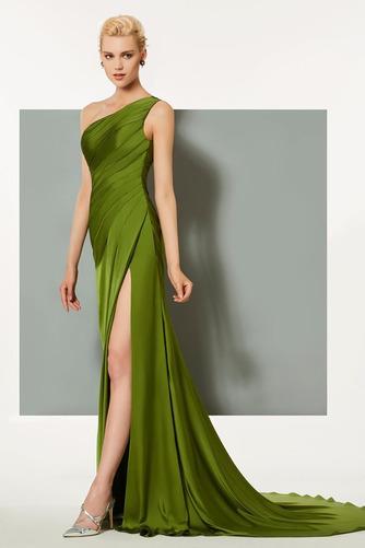 Πλισέ Τα μέσα πλάτη Αμάνικο Κομψό Φυσικό Βραδινά φορέματα - Σελίδα 2