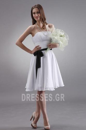 Μέχρι το Γόνατο Μικροκαμωμένη Τα μέσα πλάτη Παράνυμφος φορέματα - Σελίδα 3