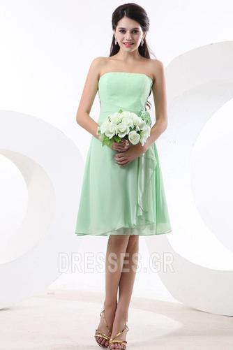 Τονισμένα ροζέτα Γραμμή Α Φυσικό Αμάνικο Παράνυμφος φορέματα - Σελίδα 2